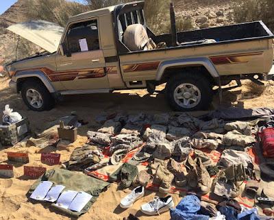مواصلة قوات إنفاذ القانون بالجيش الثالث الميدانى تطهير منطقة جبل الحلال بوسط سيناء