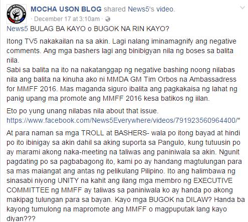 Enraged Mocha Uson Hits Back At TV5 For Broadcasting Negative News About Her!