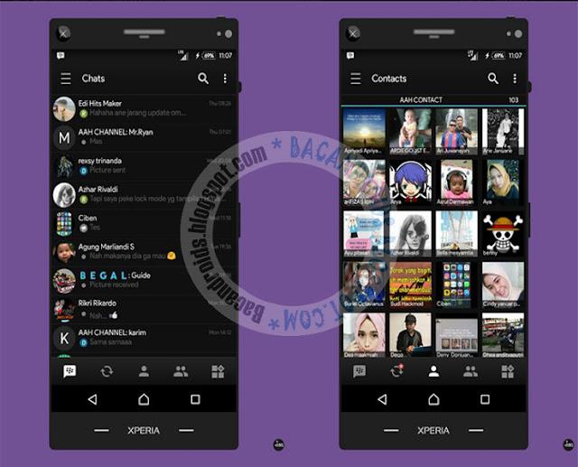 BBM Mod Black 3.3.0.16 Apk Clone Unclone