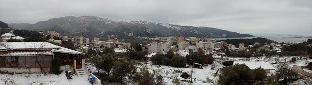 Βίντεο από τη χιονισμένη Ηγουμενίτσα, το πρωί της Τετάρτης