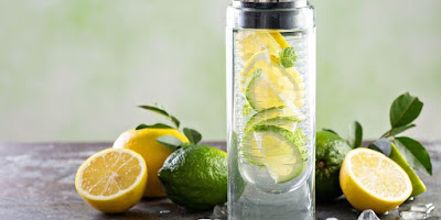 Infused water using lime