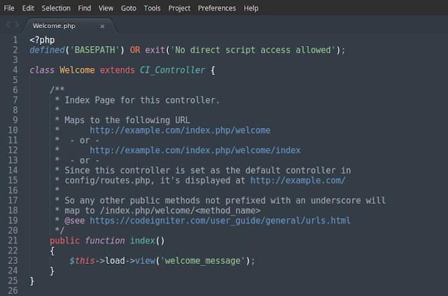 Belajar Framework PHP CodeIgniter