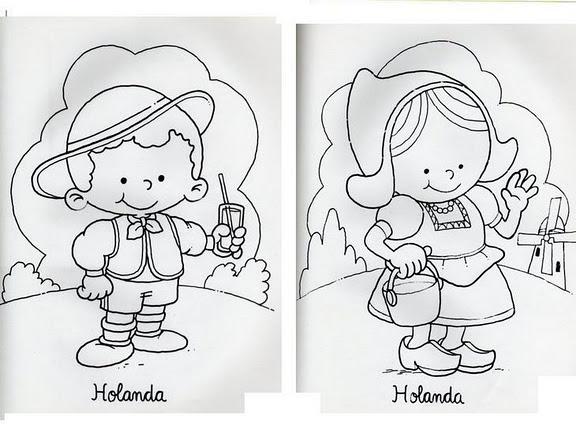 Dibujos De NiÑos Por Nacionalidades: Mi Escuela Divertida: Niños De Diferentes Países Para