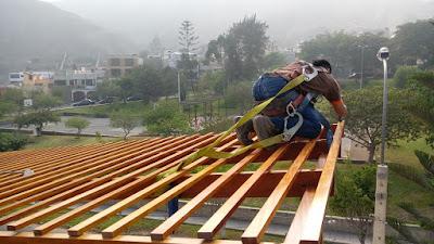 Techo Sol y sombra de madera para terrazas en Lima