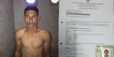 Acusado de praticar assaltos e apontar arma de fogo para cabeça de criança recém nascida é preso em Itambé