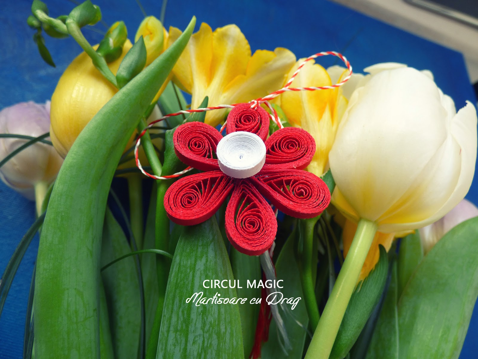 Martisoare Quilling 2017 Flori Narcise Circul Magic