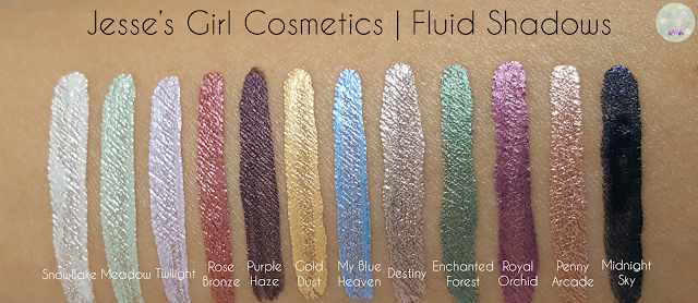 Jesse's Girl Cosmetics - Fluid Shadows | Kat Stays Polished