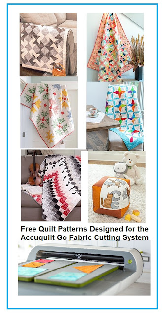 Free Quilt Patterns Designed for the Accuquilt Go Fabric Cutting System