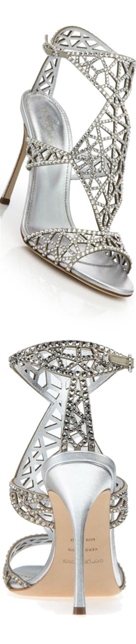 Sergio Rossi Tresor Swarovski Crystal Sandals