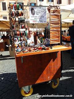 artesao couro campo De fiori souvenir pulseiras roma - Souvenirs alternativos em Roma