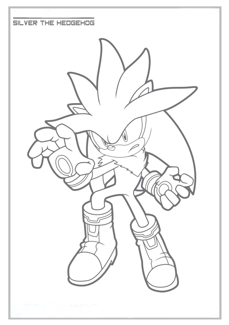 Sonhar e brincar: Silver The Hedgehog para colorir