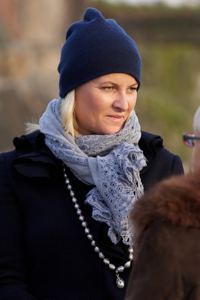 Crown Princess Mette-Marit attends Holocaust Remembrance Day