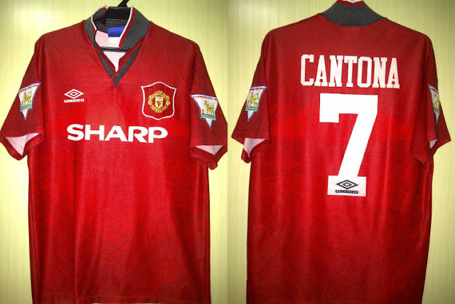 f6d13bc5046 1994-1995 Manchester United Shirt Cantona7 Home M Size Price   RM457 GBP91  Condition   8-10. Patches was Embroidery   not Lextra that supposed to be.
