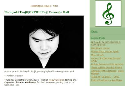 Nobuyuki Tsujii & the Orpheus Chamber Orchestra in USA September