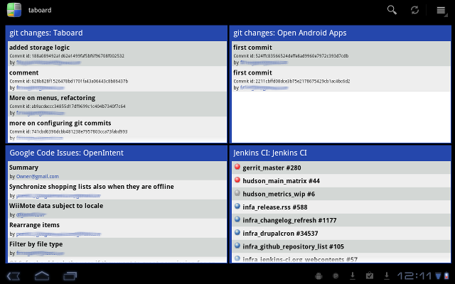 Taboard - Dashboard Applications for Android Tablets