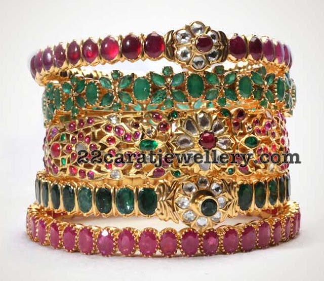 Antique Gemstone Bangles by Neelkanth Jewels
