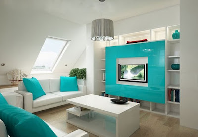 Decorar uma Sala em Azul