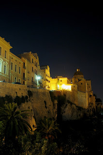 The Castello district of Cagliari is especially beautiful at night