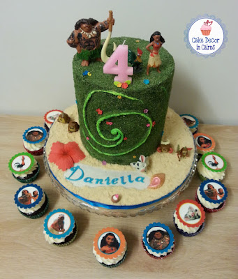 The Heart of Te Fiti Cake inspired from Disney's Moana Edible Moss Cake with Te Fiti Swirl