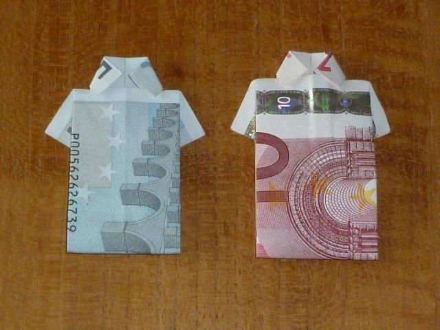 Verbazingwekkend Marly Design: Van briefgeld een shirt vouwen BQ-75