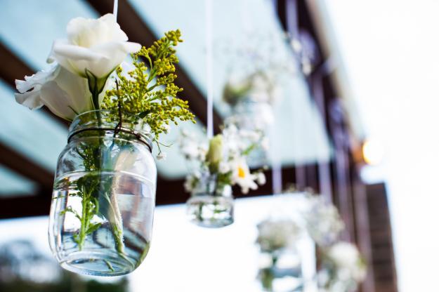 Inspirações com Garrafas para Casamento Rústico