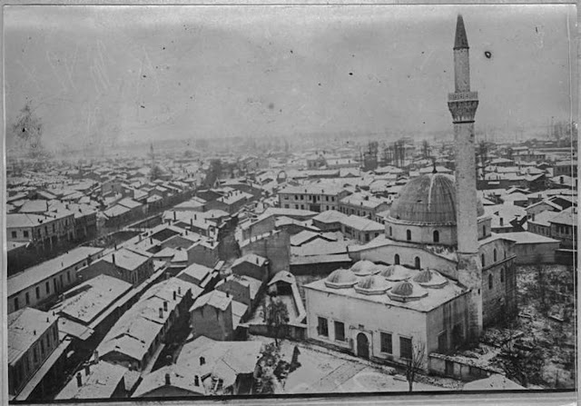 Bitola under snow – January 1917 - Panoramic photo taken from Bitola Clock Tower – view toward east