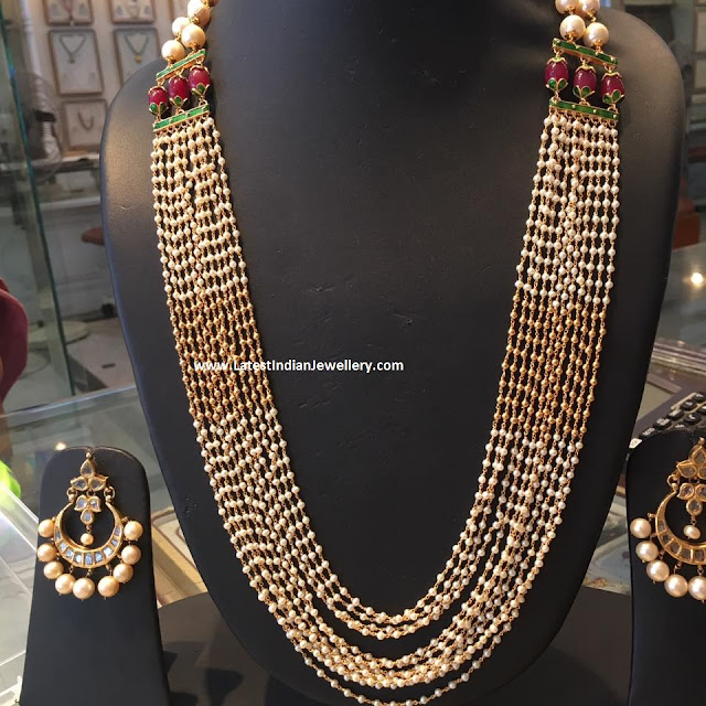 Pearls Haaram in Gold