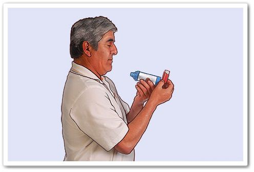 dosed inhaler with a separator