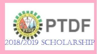 PTDF 2018/2019 POSTGRADUATE (PHD) SCHOLARSHIP  FOR UNIVERSITIES IN THE UK