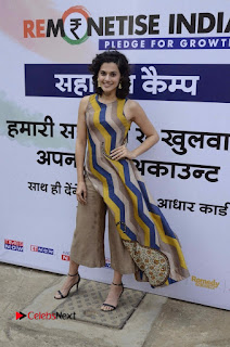 Actress Tapsee Panu Stills at Remonetise India Campaign in Chetna College Bandra West  0023.jpg
