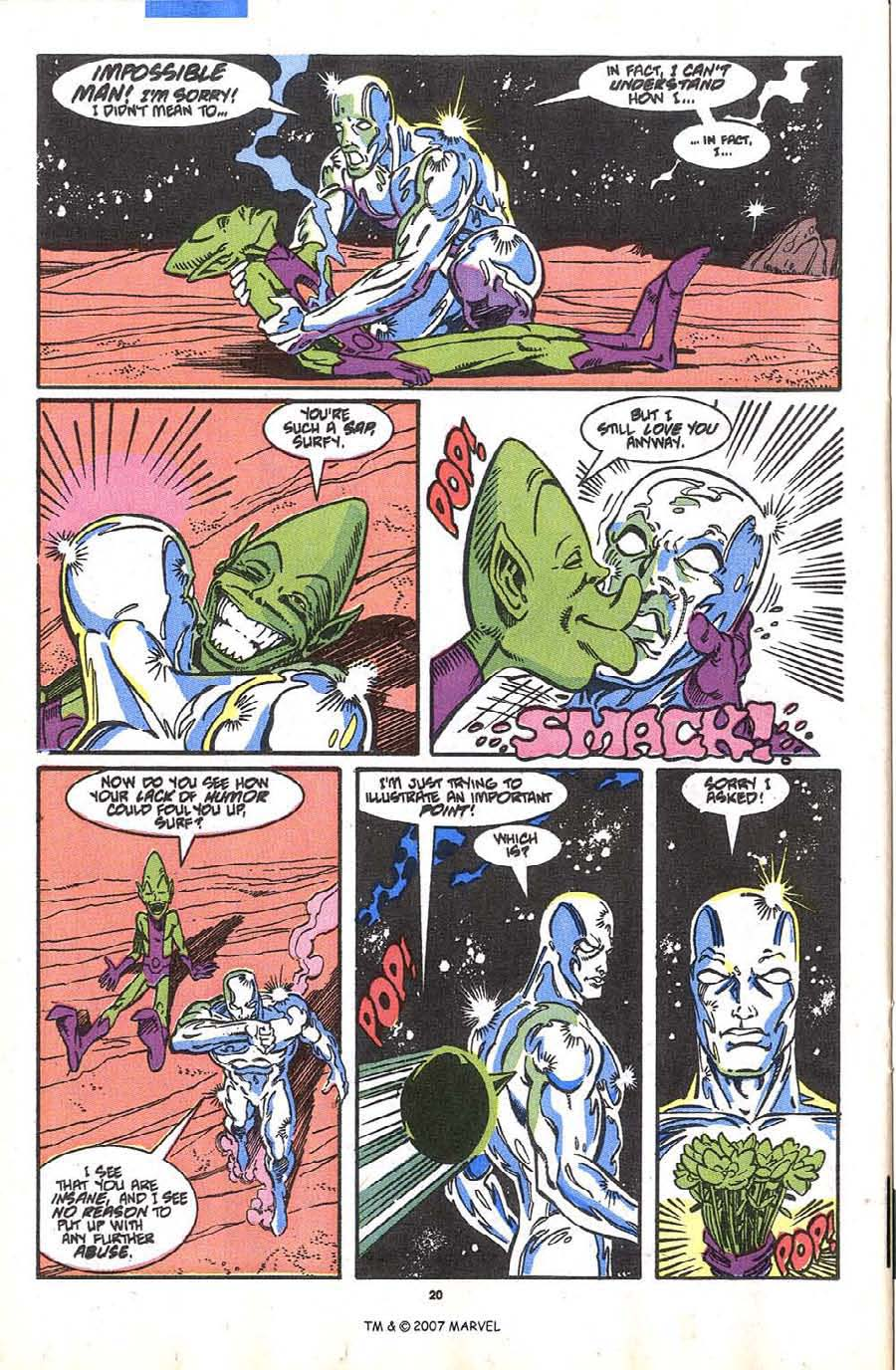 Read online Silver Surfer (1987) comic -  Issue #36 - 22