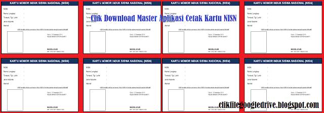 Clik Download Master Aplikasi Cetak Kartu NISN