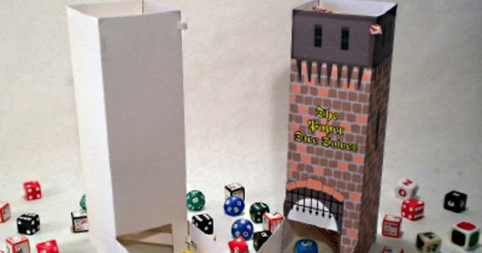Medieval Themed Dice Tower Paper Model For RPG & Wargames<br> by TJ Games