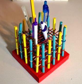 cara membuat kotak pensil pulpen dari karet