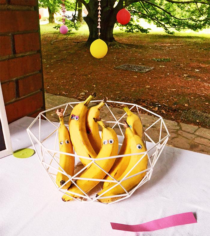 le banane con gli occhi