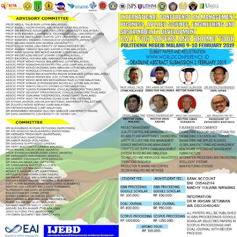 International Conference on Management,Businness, Apllied Science, Engineering and Dustainability Development