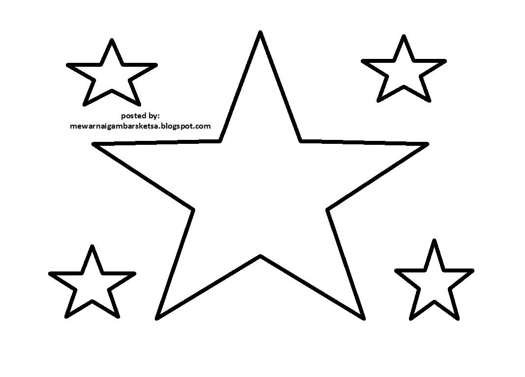 Mewarnai Gambar Sketsa Bintang 1