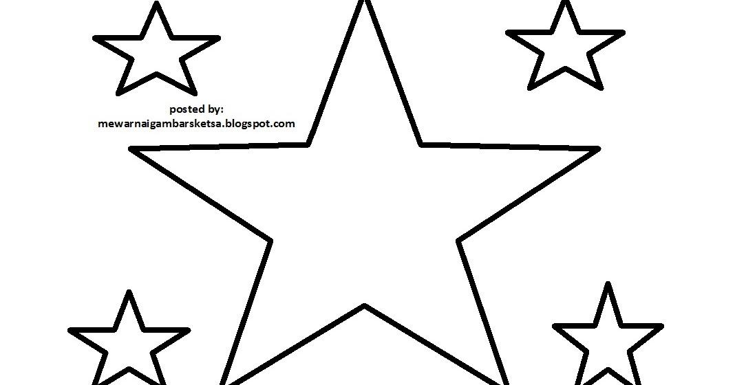 Mewarnai Gambar Mewarnai Gambar Sketsa Bintang 1