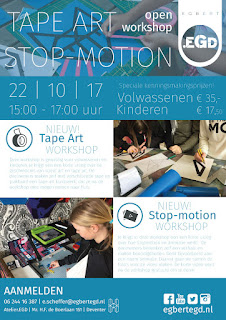 22/10: Openworkshop.EGD TAPE ART / STOP-MOTION