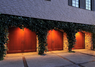 wood overlay garage doors