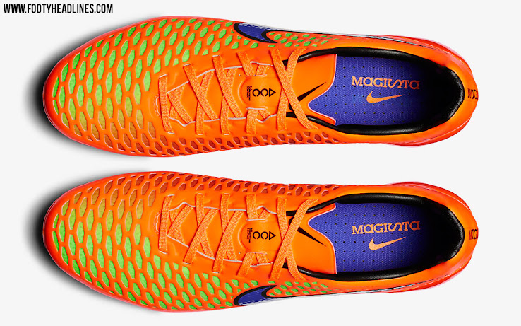 090251b72 The new Orange / Volt / Electric Purple Nike Magista Opus Intense Heat Pack  ...