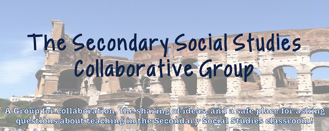 Join The Secondary Social Studies Teachers Collaborative Group on Facebook to have a safe place for sharing ideas, asking questions, and keeping up-to-date on the latest and greatest social studies resources!