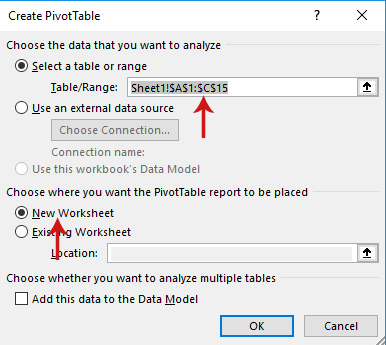 شرح pivot table