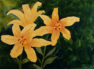 Daylilies - Watercolor - JKeese