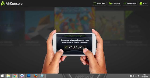 موقع جميل يقدم لك ألعاب للعبها على متصفحك والتحكم بها بهاتفك AirConsole