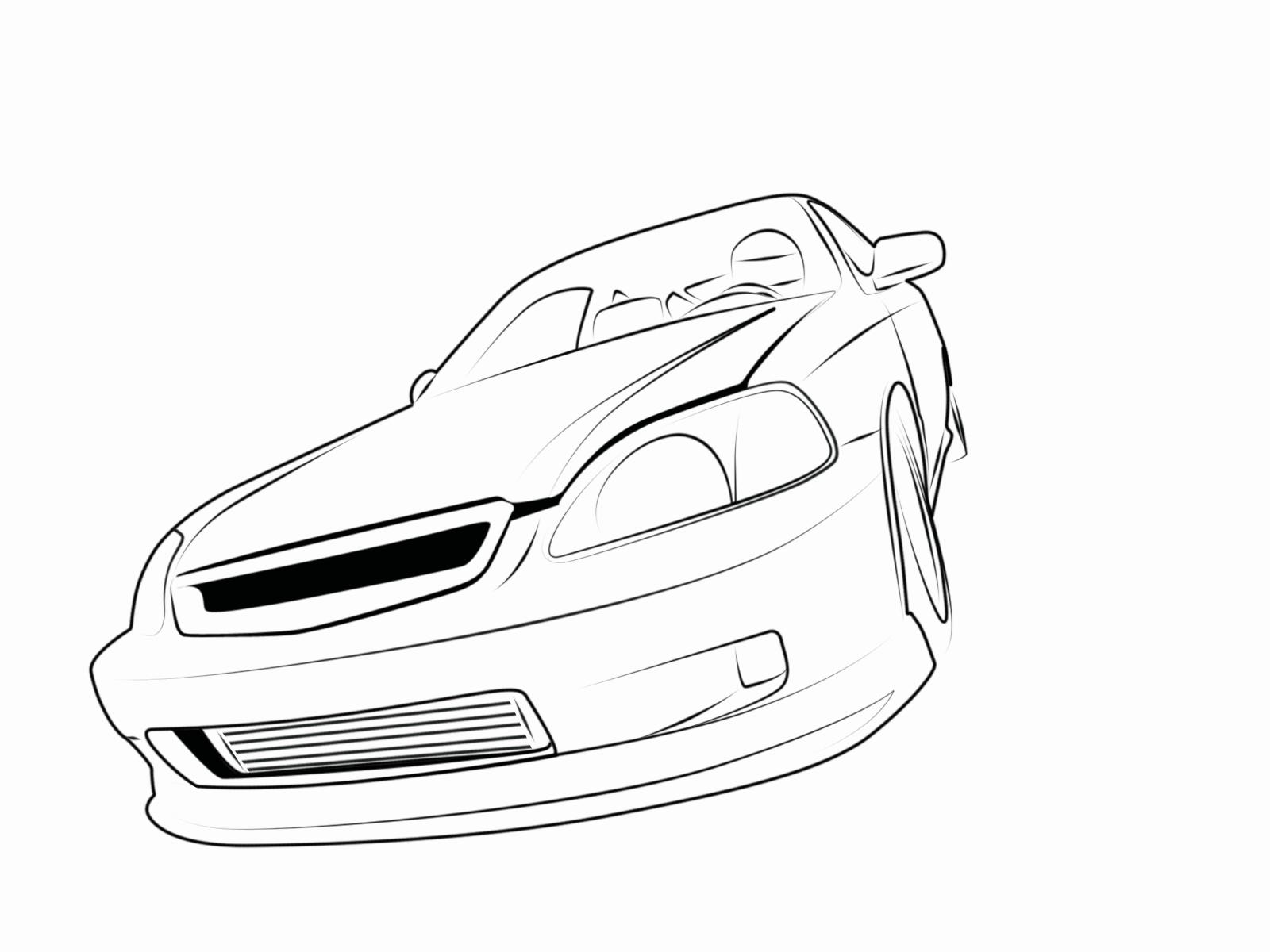 10 Mewarnai Gambar Mobil Sedan