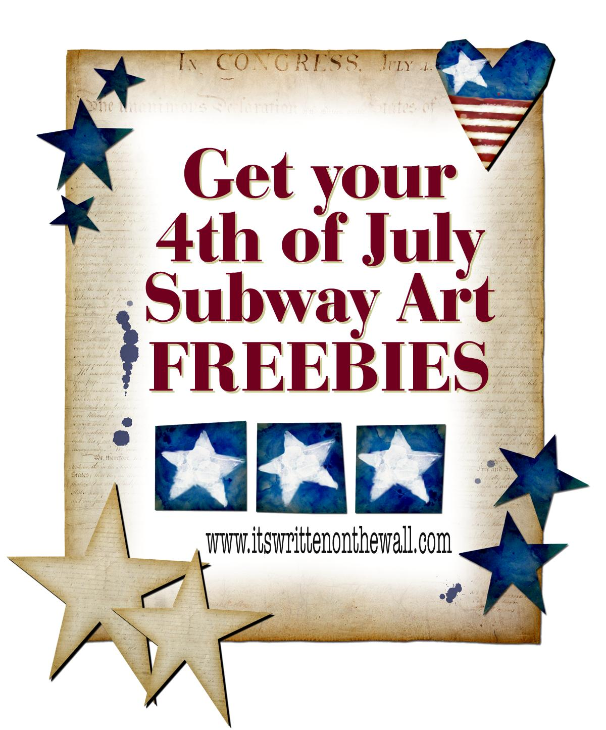 It S Written On The Wall 14 Get Your 4th Of July Subway Art Here Free Printables