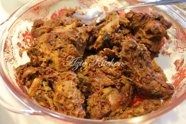 Menu wajib setiap kali menyambut hari raya Rendang Ayam Kampung Dara Organik Yang Sangat Sedap