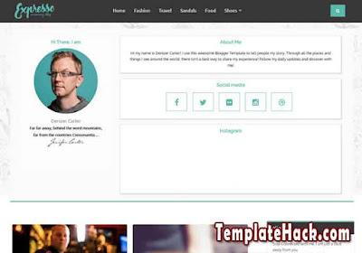 expresso slider blogger template premium