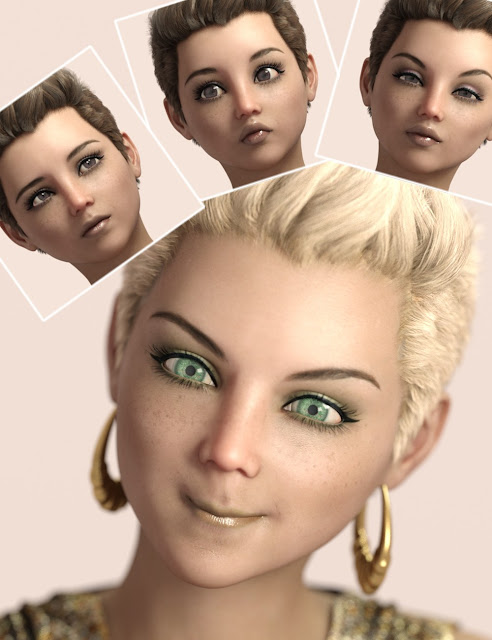 RealGirl Expressions for Genesis 3 Female